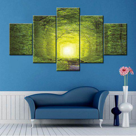 Cheap Wall Art Forest Tree Rail Print Split Canvas Paintings
