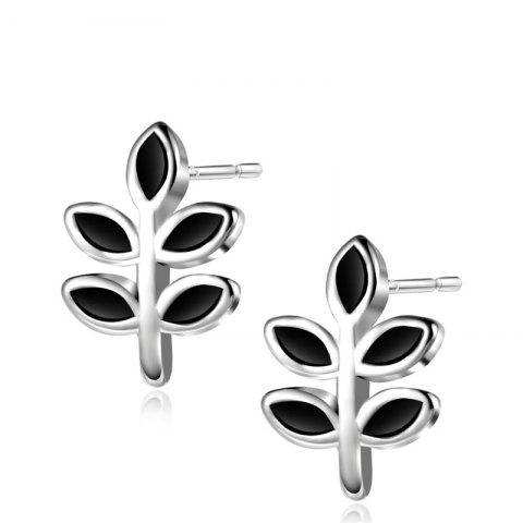 Discount Tiny Leaf Sterling Silver Stud Earrings