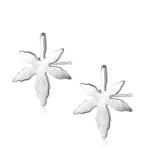 Outfit Maple Leaf Sterling Silver Stud Earrings