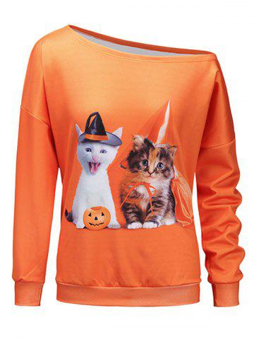 Chandail Abeille Halloween Orange 2XL