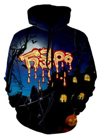 Shop Ghost 3D Print Halloween Hoodie - M COLORMIX Mobile