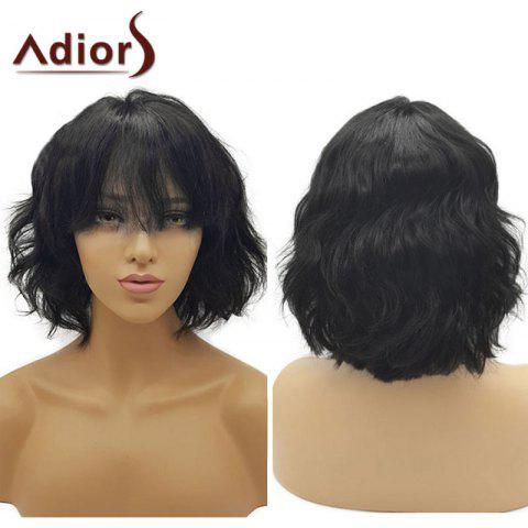 Cheap Adiors Short See-Through Bang Fluffy Wavy Bob Synthetic Wig