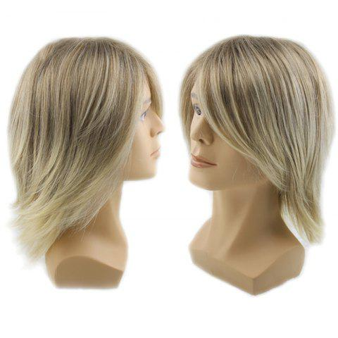 Fashion Adiors Side Bang Colormix Short Straight Men Synthetic Wig