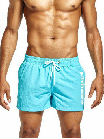 Sale Mesh Lining Drawstring Fitness Shorts - 2XL CLOUDY Mobile