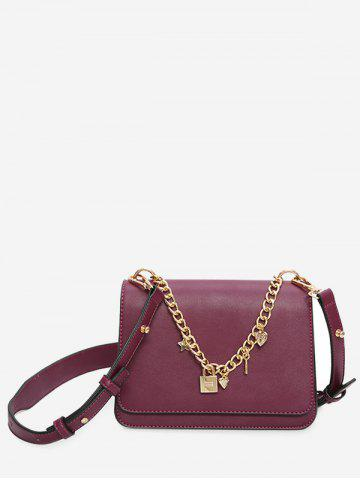 Sac Crossbody Cross Heart Heart Pourpre