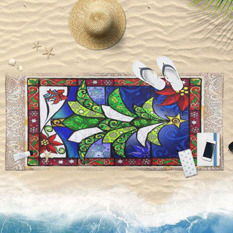Online Abstract Christmas Tree Print Bath Towel