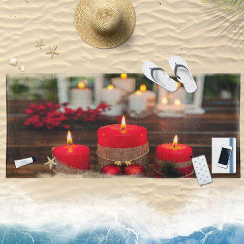 Latest Candle Christmas Water Absorption Bath Towel COLORMIX 75*150CM
