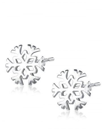 Store Christmas Snowflake Sterling Silver Stud Earrings SILVER