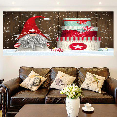New Christmas Cake Santa Claus Patterned Wall Art Painting COLORFUL 1PC:24*47 INCH( NO FRAME )