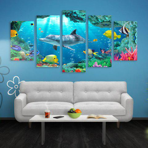 Cheap Dolphin Print Split Canvas Wall Art Paintings