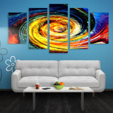 Buy Vortex Print Wall Art Split Canvas Paintings COLORFUL 1PC:16*39,2PCS:16*24,2PCS:16*31 INCH( NO FRAME )