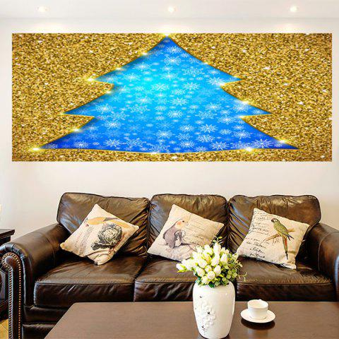 Affordable Multifunction Glitter Christmas Tree Shaped Wall Art Painting GOLDEN 1PC:24*35 INCH( NO FRAME )