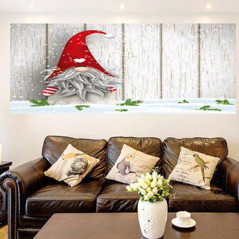 Hot Little Santa Clause Removable Multifunction Wall Art Painting COLORFUL 1PC:24*35 INCH( NO FRAME )