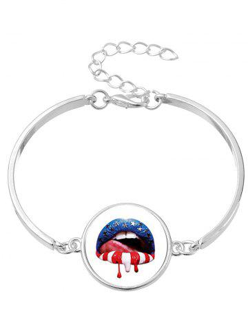 Blood Star Lips Bracelet Bracelet Halloween Argent