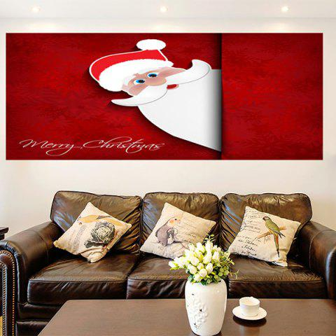 Cheap Removable Santa Claus Patterned Multifunction Wall Art Painting DEEP RED 1PC:24*35 INCH( NO FRAME )