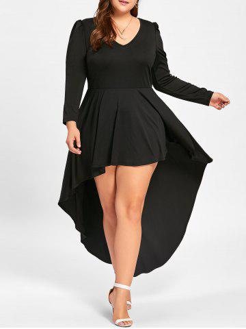 41 Off 2018 Plus Size Long Sleeve Cocktail Dress In Black 5xl