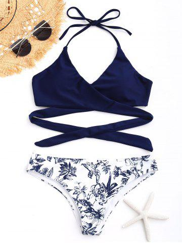 Latest Wrap Porcelain Floral Bikini Swimwear