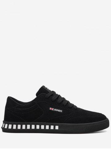 Outfit Color Block Stitching Letter Skate Shoes