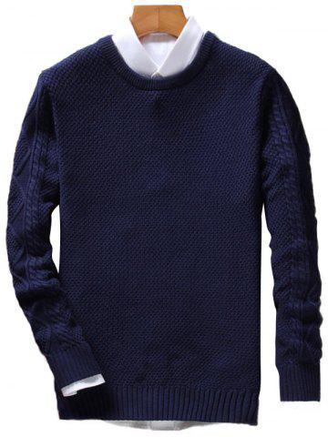 Chic Crew Neck Cable Knit Jumper