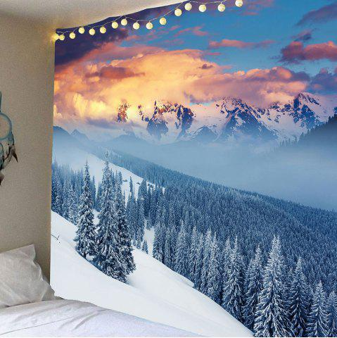 Shop Hanging Snow Mountains Forest Pattern Wall Decor Tapestry
