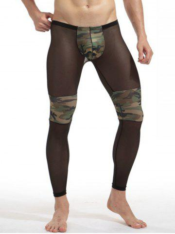 Voile Camouflage Panel Convex Pouch Underpants