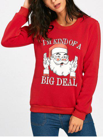Chic Cute Santa Claus Print Christmas Sweatshirt