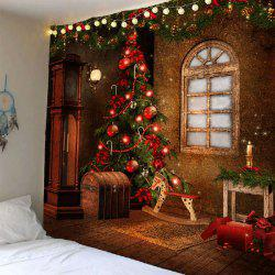 Waterproof Christmas Tree Decorations Patterned Wall Hanging Tapestry - Colorful - W79 Inch * L71 Inch