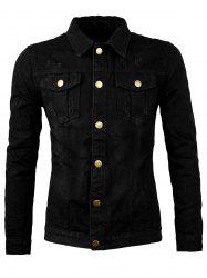 Bottes Allover Scratch Denim Jacket - Noir 3XL