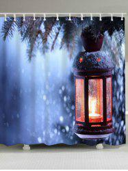 Waterproof Christmas Candle Bath Curtain -
