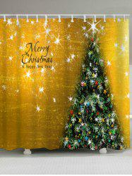 Waterproof Fabric Christmas Tree Shower Curtain - GOLDEN W71 INCH * L71 INCH