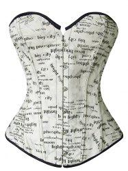 Printed Corset Top - OFF-WHITE M