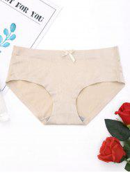 Seamless Middle Waist Panties - COMPLEXION M