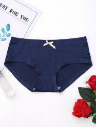 Seamless Middle Waist Panties - CERULEAN L