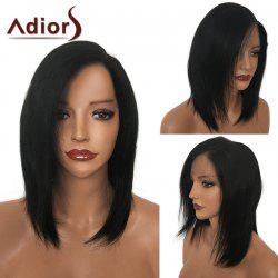 Adiors Side Parting Medium Straight Bob Synthetic Wig -