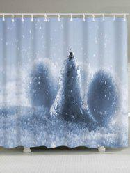 Waterproof Christmas Snow Ball Shower Curtain - CLOUDY W71 INCH * L79 INCH