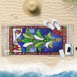 Abstract Christmas Tree Print Bath Towel -