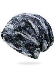 Outdoor Camo Pattern Lightweight Beanie - SNOW-LAND CAMOUFLAGE