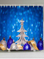 Christmas Tree Balls Waterproof Shower Curtain -