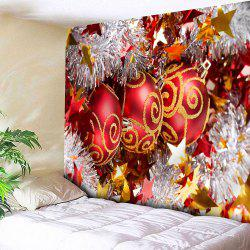 Christmas Glittering Ball Pattern Waterproof Wall Hanging Tapestry - COLORFUL W59 INCH * L51 INCH