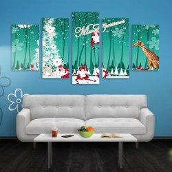 Arbre de Noël Print Wall Art Split Canvas Paintings -