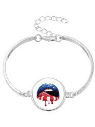 Blood Star Lips Bracelet Bracelet Halloween - Argent
