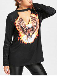 Eagle Choker Neck Top -