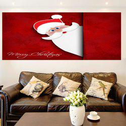 Removable Santa Claus Patterned Multifunction Wall Art Painting - DEEP RED 1PC:24*35 INCH( NO FRAME )