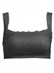 Plus Size Wirefree Padded Lace Trim Bra -