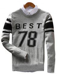 Best 78 Pattern Crew Neck Sweater -
