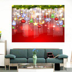Waterproof Christmas Baubles Pattern Stick-on Wall Art Painting -