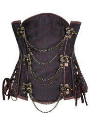 Chains Panel Steampunk Corset -