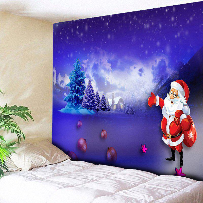 Unique Santa Claus Printed Christmas Wall Tapestry