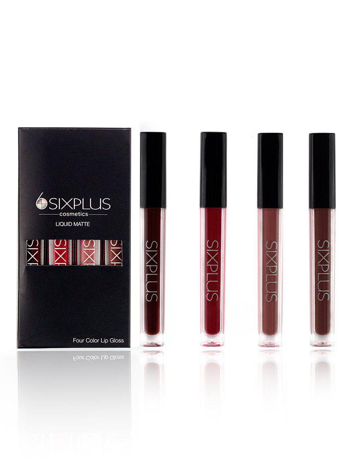 4 Pieces Long Lasting Lip Gloss SetBEAUTY<br><br>Color: MULTI; Category: Lip Gloss; Type: Liquid; Features: Eco-friendly,Hypoallergentic,Limits Bacteria; Season: Fall,Spring,Summer,Winter; Weight: 0.2000kg; Package Contents: 4 x Lip Gloss(Pcs);