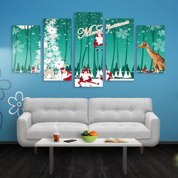 Arbre de Noël Print Wall Art Split Canvas Paintings